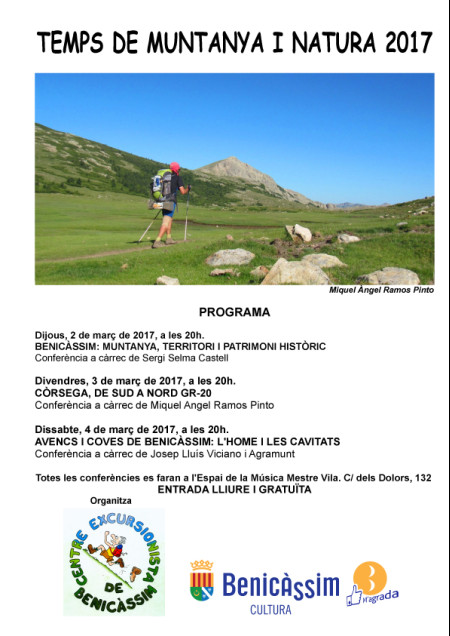 Conferencias Centro Excursionista - Temps de muntanya i natura