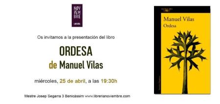 """Manuel Vilas presenta """"Ordesa"""""""