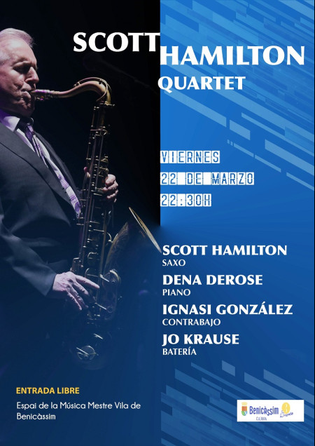 Música: CONCIERTO SCOTT HAMILTON QUARTET