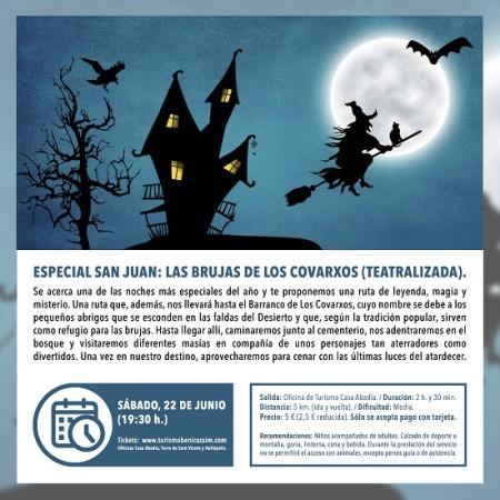 Programa oficial de visitas guiadas. Especial San Juan: Las Brujas de los Covarxos (Teatralizada)