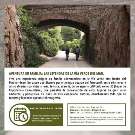 PROGRAMA OFICIAL DE VISITAS GUIADAS: LAS LEYENDAS DE LA VÍA VERDE DEL MAR