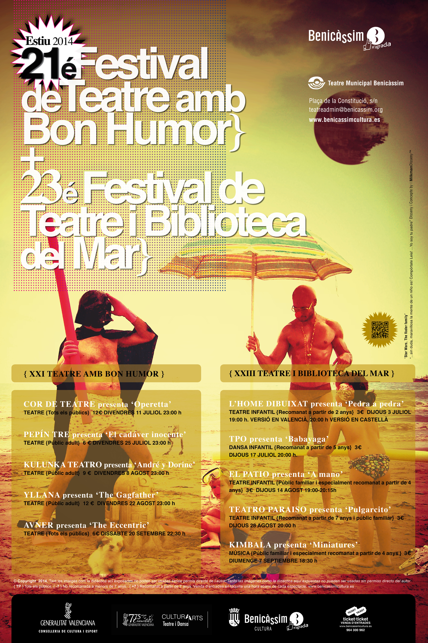 Benicàssim presenta los dos festivales de Teatro que llenarán el verano de buen humor y fantasía