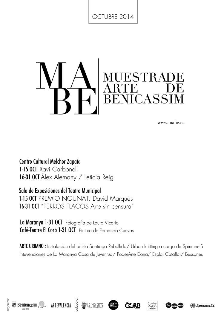 El municipio celebrará durante todo octubre la Muestra de Arte de Benicàssim (MABE)