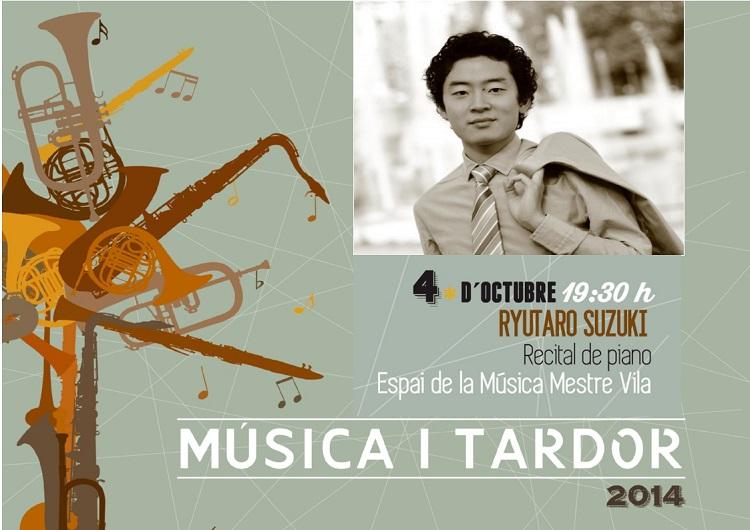 Un concierto del pianista Ryutaro Suzuki abre la edición de 2014 del ciclo Música i Tardor