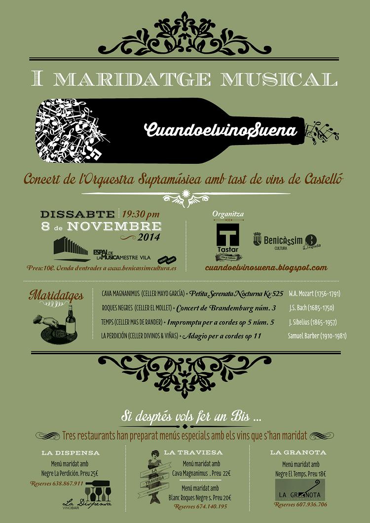 El Maridatge Musical, una novedosa iniciativa dentro del ciclo Música i Tardor