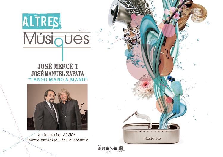 José Mercé y J.M Zapata, reabrirán el Teatre Municipal el 8 de mayo con Tango mano a mano