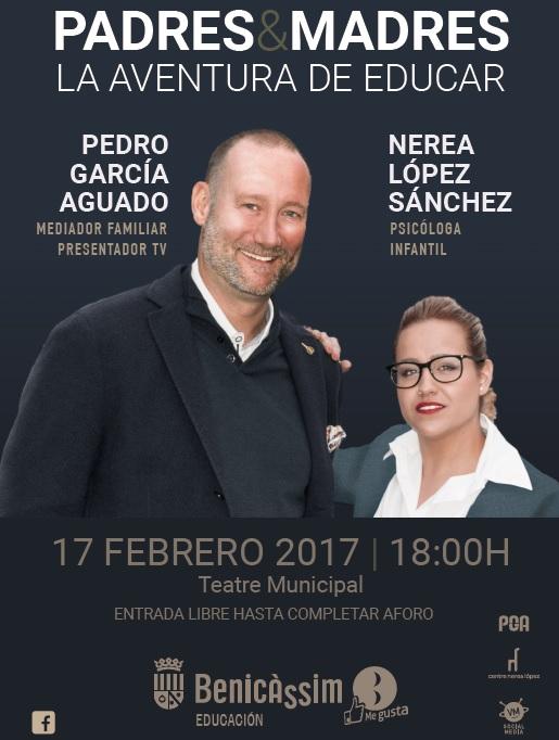 """Charla con Pedro García Aguado y Nerea López """"La aventura de educar"""""""