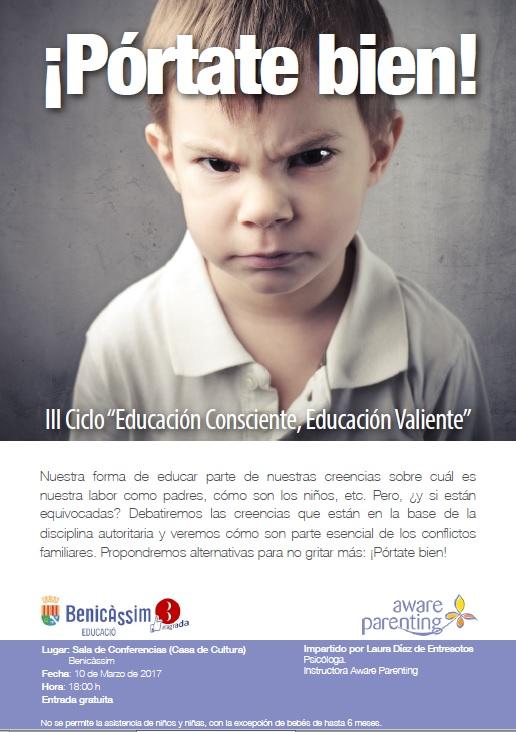 """Charla """"Pórtate bien"""" III ciclo Educación Consciente, Educación Valiente"""