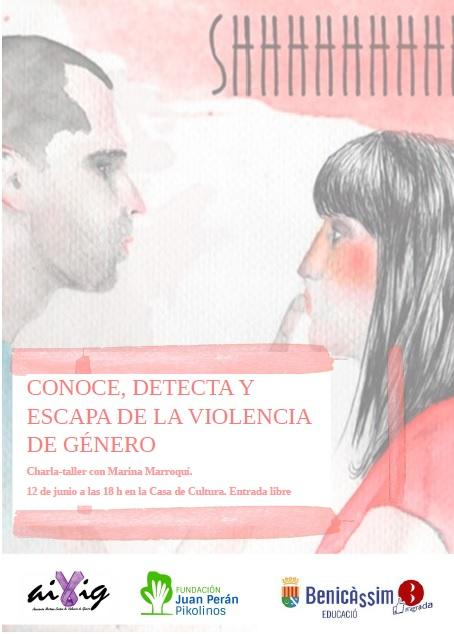 """Charla-taller con Marina Marroquí: """"Conoce, detecta y escapa de la violencia de género"""""""