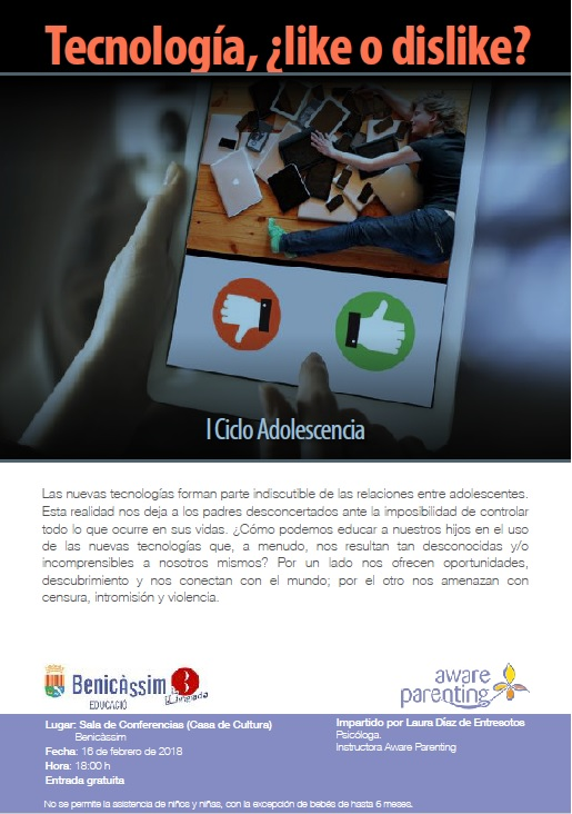 "I CICLO LA ADOLESCENCIA charla ""Tecnología:¿like o dislike?"