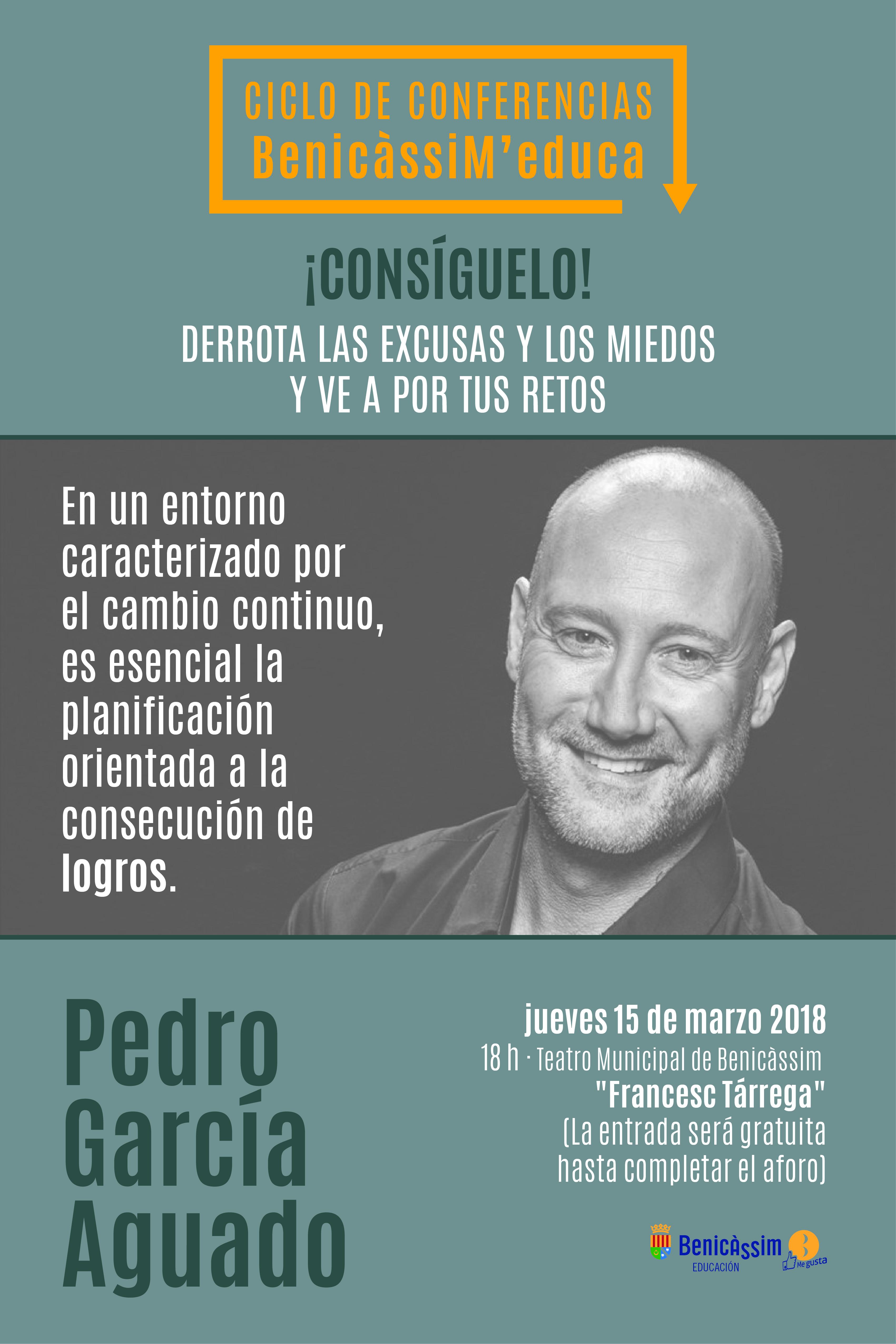 "BenicàssiM'educa. Charla de Pedro García Aguado ""Consíguelo"""