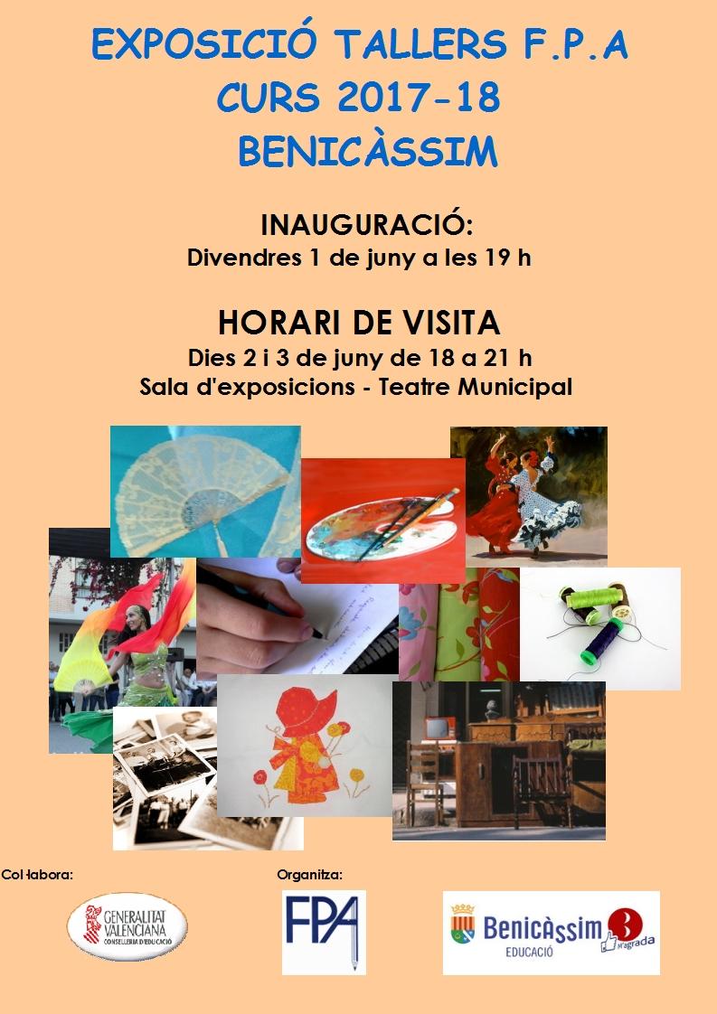 Exposición fin de curso talleres FPA 2017-18