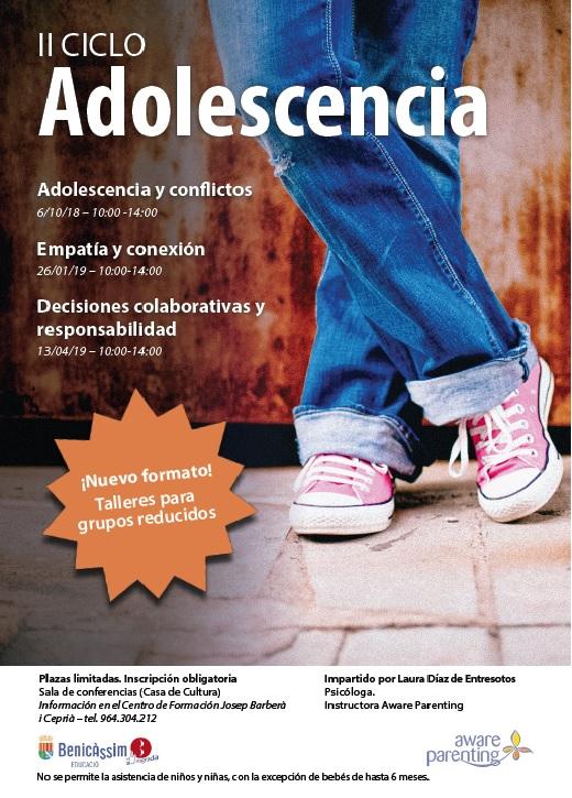 """II ciclo de talleres """"Adolescencia"""""""
