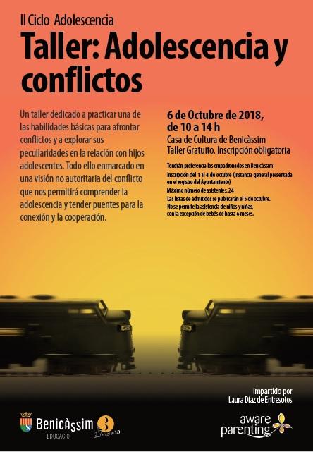 """Taller """"Adolescencia y conflictos"""" , II ciclo Adolescencia"""