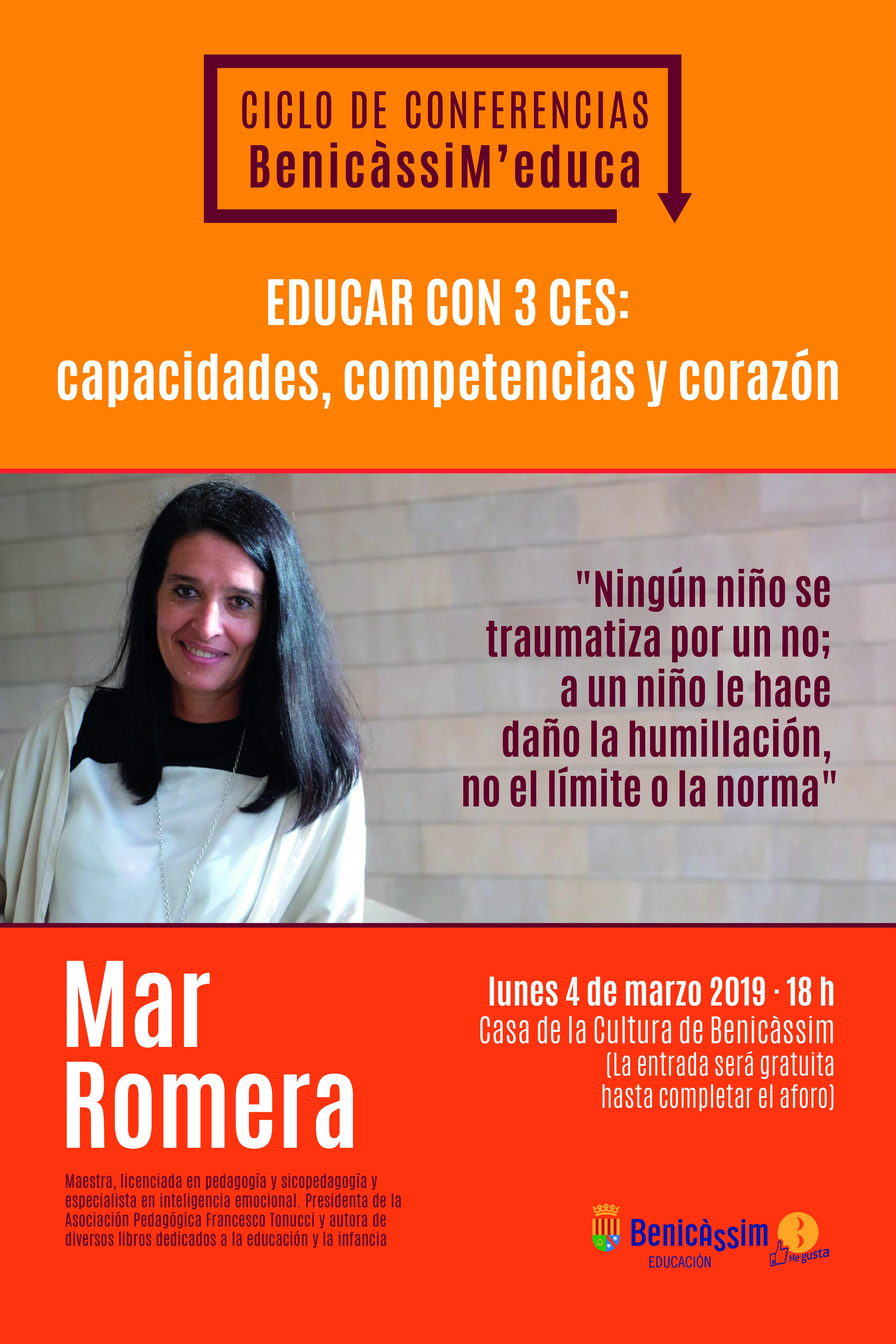 """CHARLA """"EDUCAR CON 3 CES: CAPACIDADES, COMPETENCIAS Y CORAZÓN"""""""