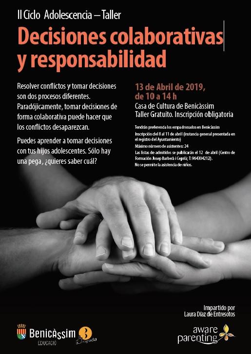 """TALLER """"DECISIONES COLABORATIVAS Y RESPONSABILIDAD"""""""