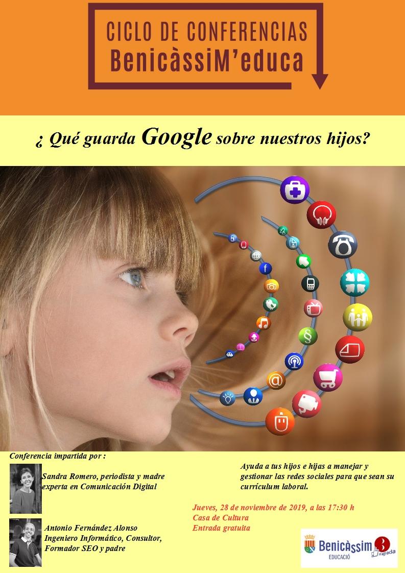 Conferencia: ¿Qué guarda GOOGLE sobre nuestros hijos?
